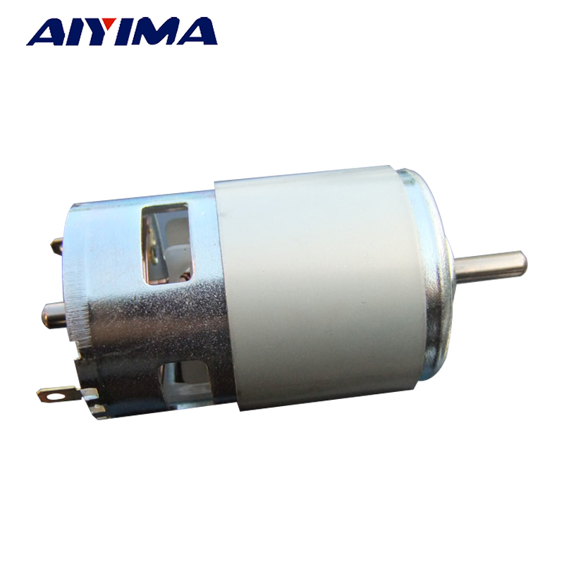 AIYIMA 775 Motor DC 12V 150W 10000r'p'm Motor High Speed High Torque Double Ball Bearing For Hair Dryer Power Tools brand dc motor ball bearing double output shaft high adjustable speed 12v for robots geared motor
