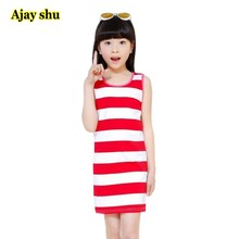 Jilly kingdom Girls dresses 2019 New spring&summer casual style black&white striped princess dress The party for children clothe