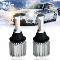 Tcart 1Set Auto Led COB Lamps For Toyota Prius 3 7443 Car LED DRL Daytime Running