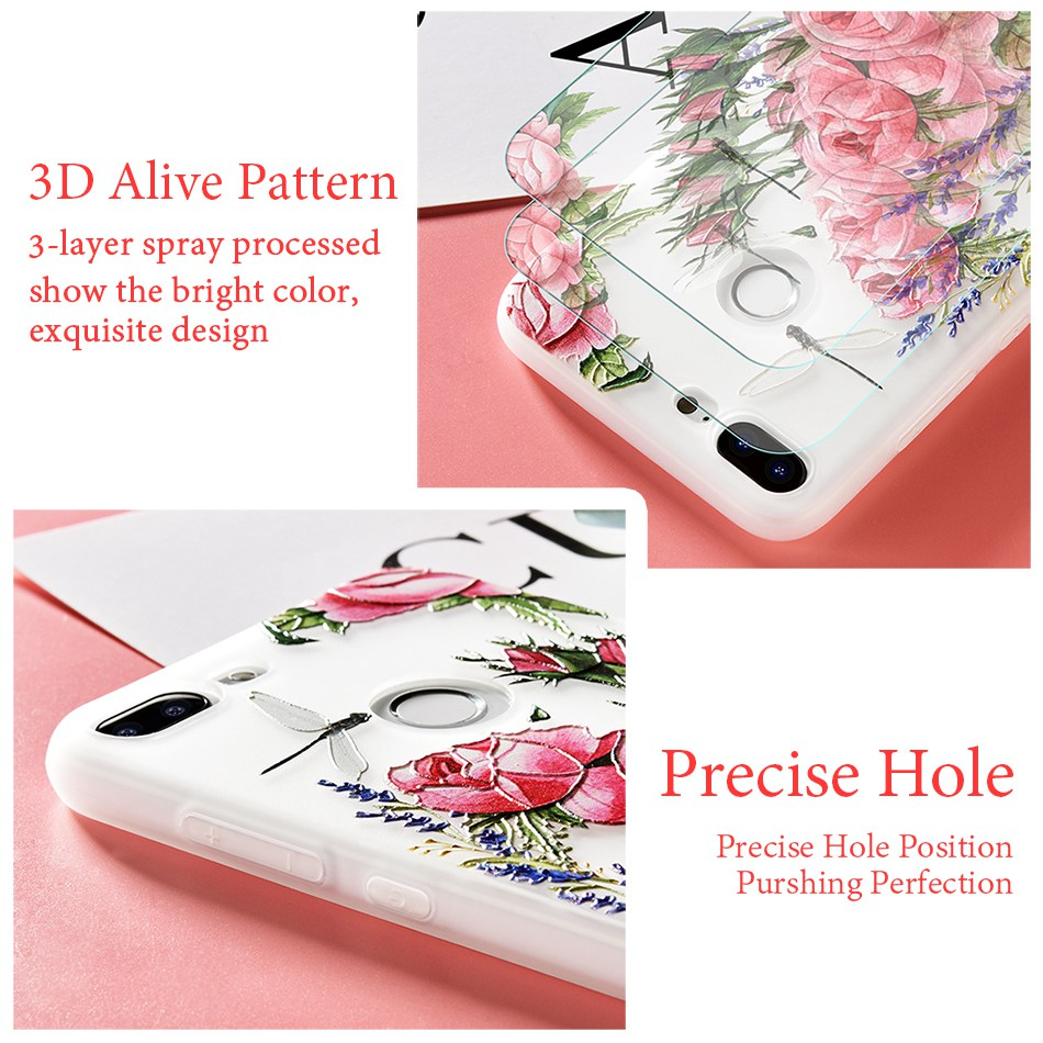 3D Relief Flower TPU Case For On Honor 9 9 lite Soft Silicone Case Back Cover Case for Huawei P20 P10 lite NOVA 2 Case           (30)
