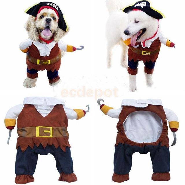 Pet Dog Cat Puppy Pirate Apparel Clothes Holiday Costume Prop Dress Suit Outfit with Hat  sc 1 st  AliExpress.com & Pet Dog Cat Puppy Pirate Apparel Clothes Holiday Costume Prop Dress ...