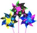 100 pcs Brinquedo do Moinho de vento DIY Jardim Colorido Cata Vento Spinner 36.5*15*0.8 CM Folha Pequenos Moinhos De Vento Ao Ar Livre brinquedo