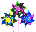 100pcs Windmill Toy DIY Garden Colorful Pinwheel Wind Spinner 36.5*15*0.8CM Sheet Small Windmills Outdoor Toy