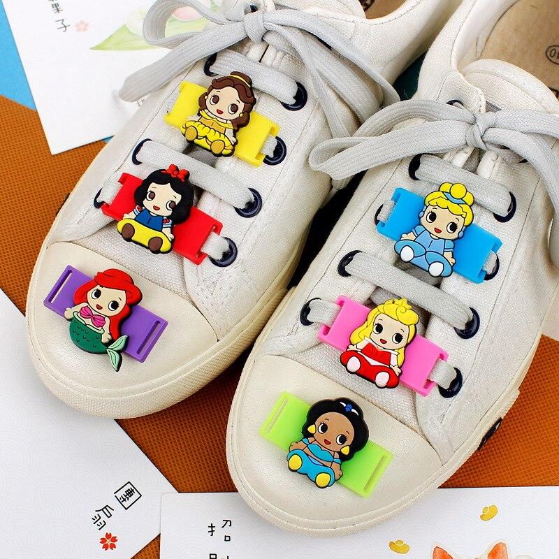 Cartoon Models PVC Shoe Decorations 6-12 Pcs Princess Series Casual/Sports Shoes Accessories Teens Childrens Shoelace Ornament