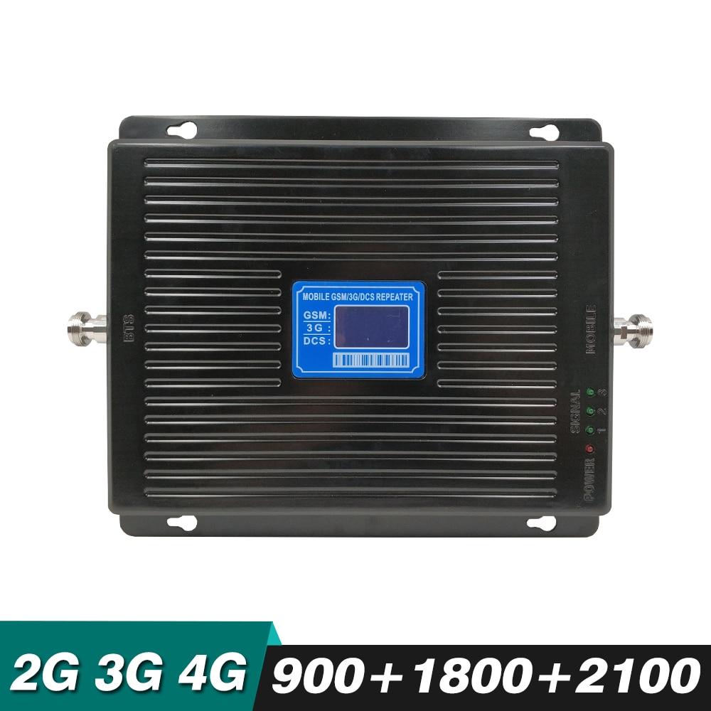 2g/3g/4g Celular Signal Booster Tri Band für GSM 900 + DCS/LTE 1800 + WCDMA 2100 mhz Handy Signal Repeater Verstärker 70dB Gain