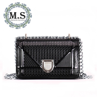 M S Classic Solid Plaid Small Flap Shoulder Bags Women Luxury Brand Vintage Leather Handbags Female