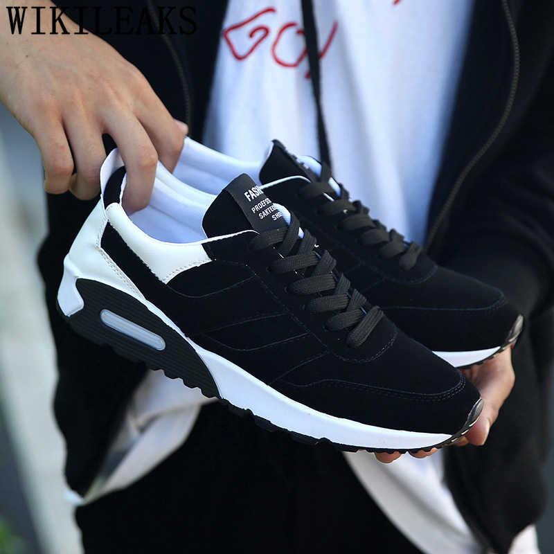 2019 מוקסין נעלי גברים מעצב סניקרס לגברים נעלי איטלקי מותג mens נעליים מזדמנים סניקרס שחור סניקרס tenis masculino