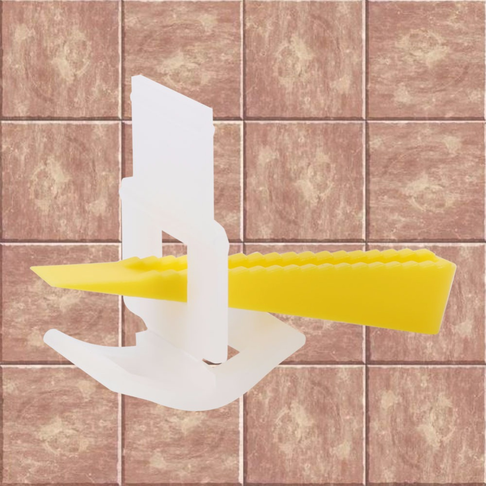 500 Clips 200 Wedges Floor Wall Tile Leveler Spacers Flat Leveling