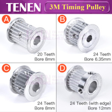 Зубчатый Шкив HTD 3 м 20/24 ширина зубьев 15 мм диаметр 8/12 синхронный зубчатый шкив с винтовым Алюминиевым для деталей 3d принтера