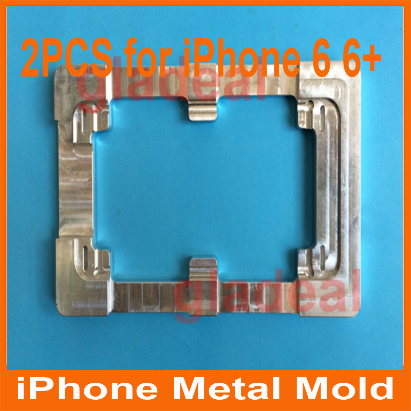 цена на 2PCS Quality Aluminium Alloy Refurbishment Glueing Repair LCD Outer Glass Mould Mold For iPhone 6 4.7 +iphone6 + plus 5.5