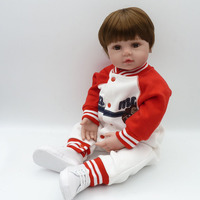 Realistic 24 In 60 cm Baby Reborn Doll Soft Silicone Reborn Doll Baby For Children Cloth Body Kids For Christmas Gifts