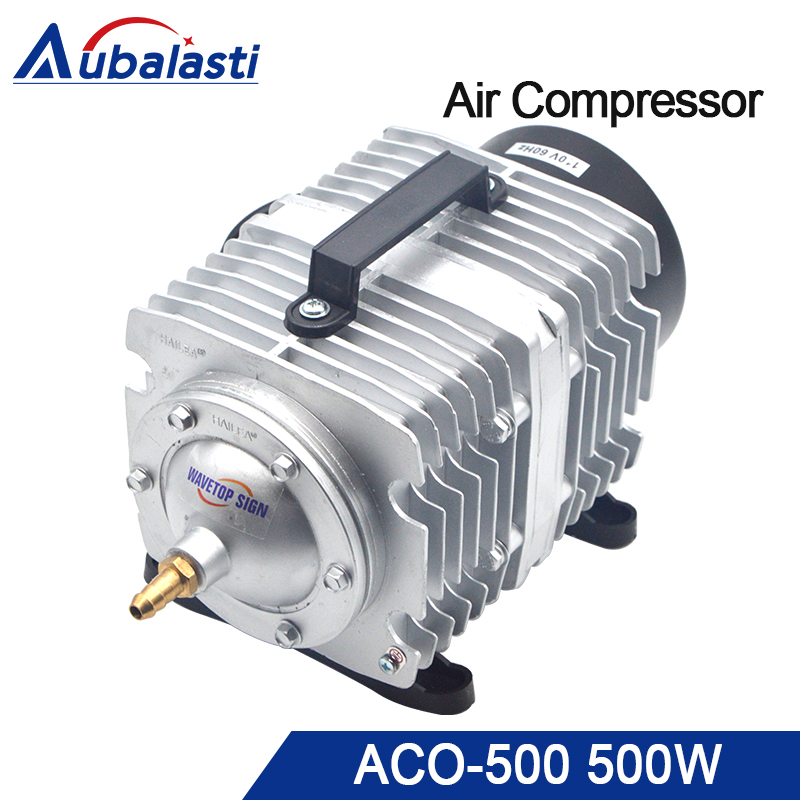 HAILEA 500W Air Compressor Electrical Magnetic Air Pump for CO2 Laser Engraving Cutting Machine ACO-500