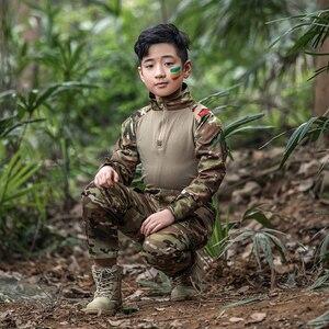 Image 4 - Mege uniforme militar para niños, traje de combate multicámara de las Fuerzas Especiales del Ejército, Multicam, Airsoft, equipo de Paintball CS