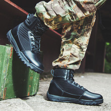 Hiking Shoes Men's Desert High-Top Military Tactical Boots Outdoor Sneakers Combat Army Boots Botas Tacticas Militares Hombres цена 2017