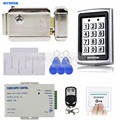 DIYSECUR 125KHz RFID Metal Case Keypad Door Access Control Security System Kit + Electric lock + Remote Control 7612