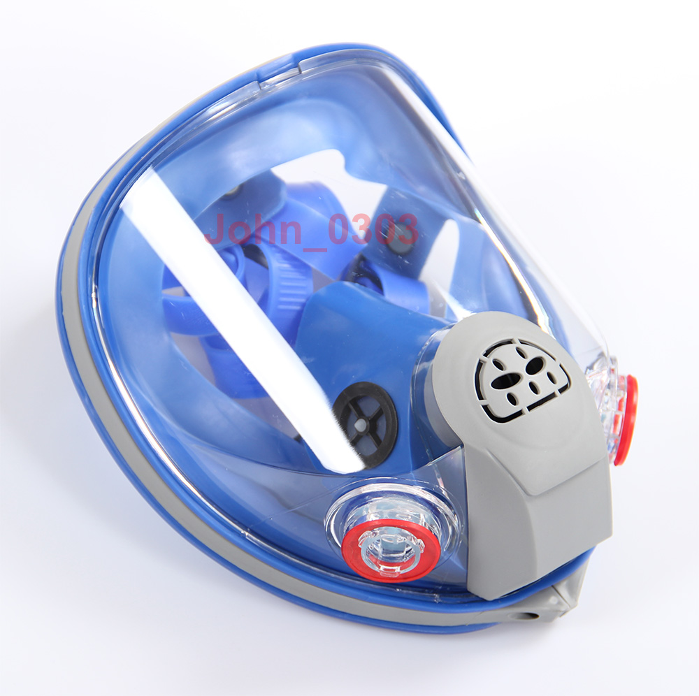 6800 Silicone Full Face Gas Mask Facepiece Respirator For Painting Spraying Large View