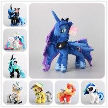 Роскошный 8 стилей на выбор, маленькие лошади, кошмар, луна, луна, дерзкая, мягкая плюшевая игрушка, мягкие куклы для девочек, подарок Берта, 38 см