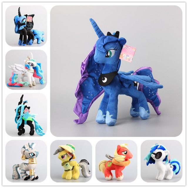 Deluxe 8 Estilo para Escolher Cavalos Pouco Daring Do Pesadelo Lua Luna Plush Brinquedo Macio Stuffed Dolls Meninas Presente Bert 38 CM
