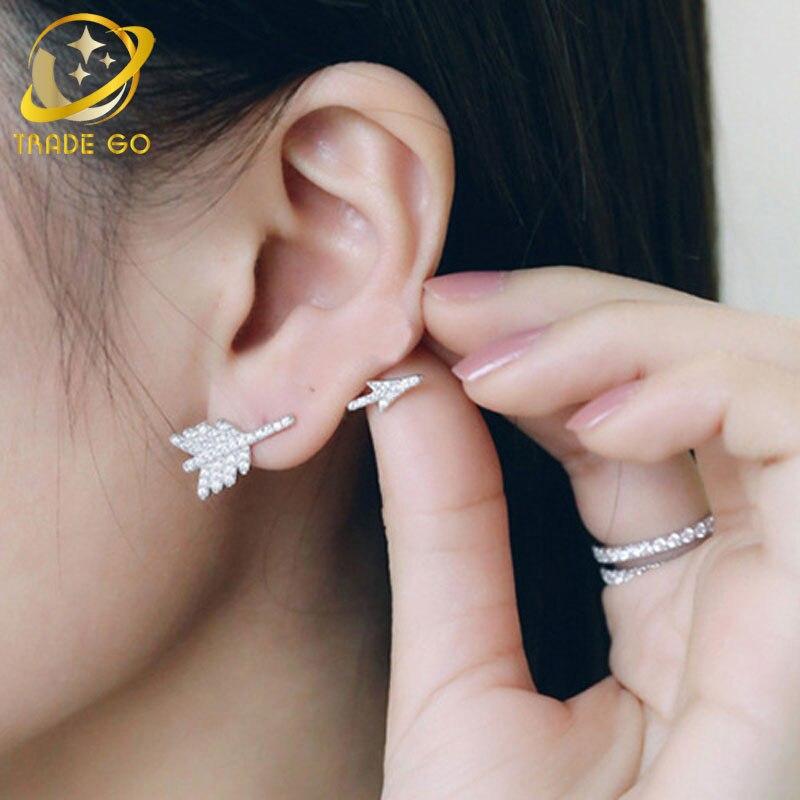 silver arrow earrings for women boucle d oreille 3d earings fashion jewelry aretes earrings oorbellen