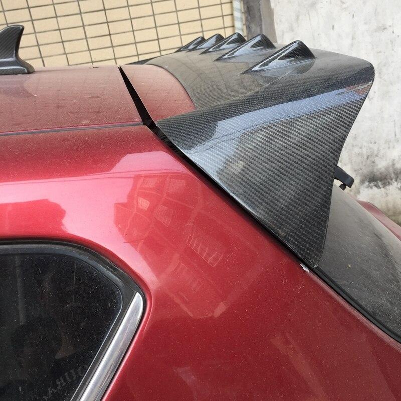 Для Nissan Tiida спойлер Высокое качество углеродного волокна Материал автомобилей задний спойлер для Nissan Tiida спойлер 2011 2015