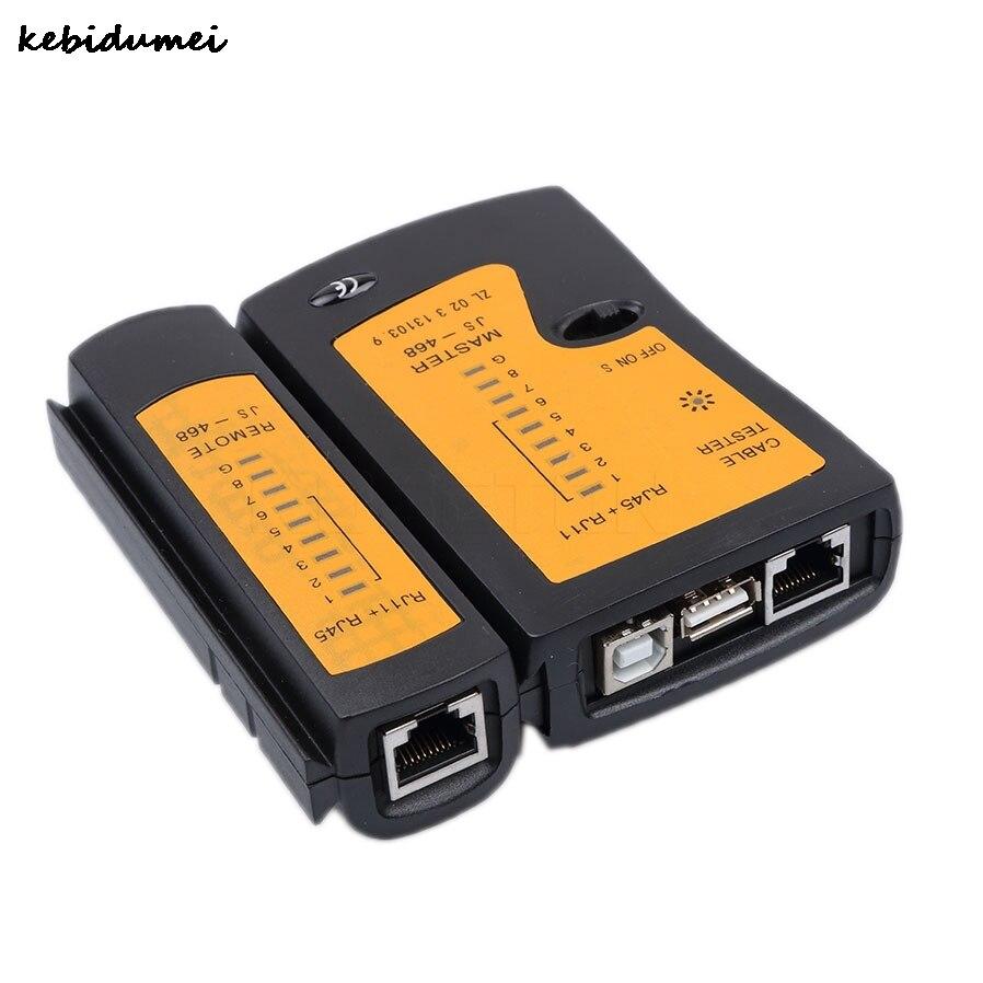 kebidumei narzędzia drutu kabel sieciowy rj45 usb tester tester test