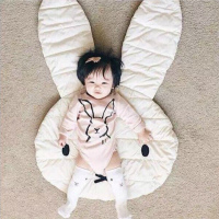Baby Bedding Set Blanket Kid Play Mat Rabbit Design Cotton Floor Mat Children Room Tent Decoration