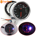 New Universal Motorcycle LED Dual Odometer Test Miles Speedometer Gauge 12V