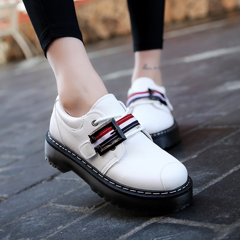 2017 Spring Autumn Platform Women Shoes Patent Leather Lace Up Shoes For Woman Casual Shoes Ladies Flats Zapatos Mujer S151 (30)
