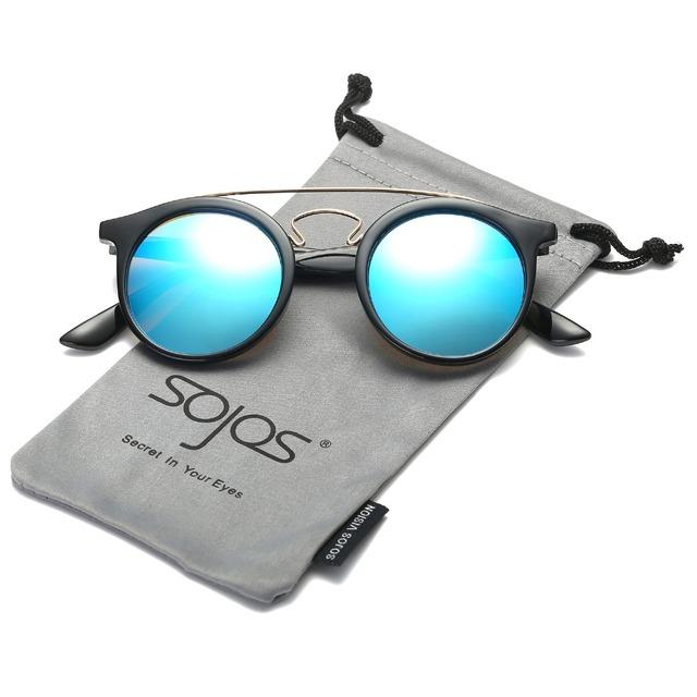 Women's Double Bridge Round Sunglasses