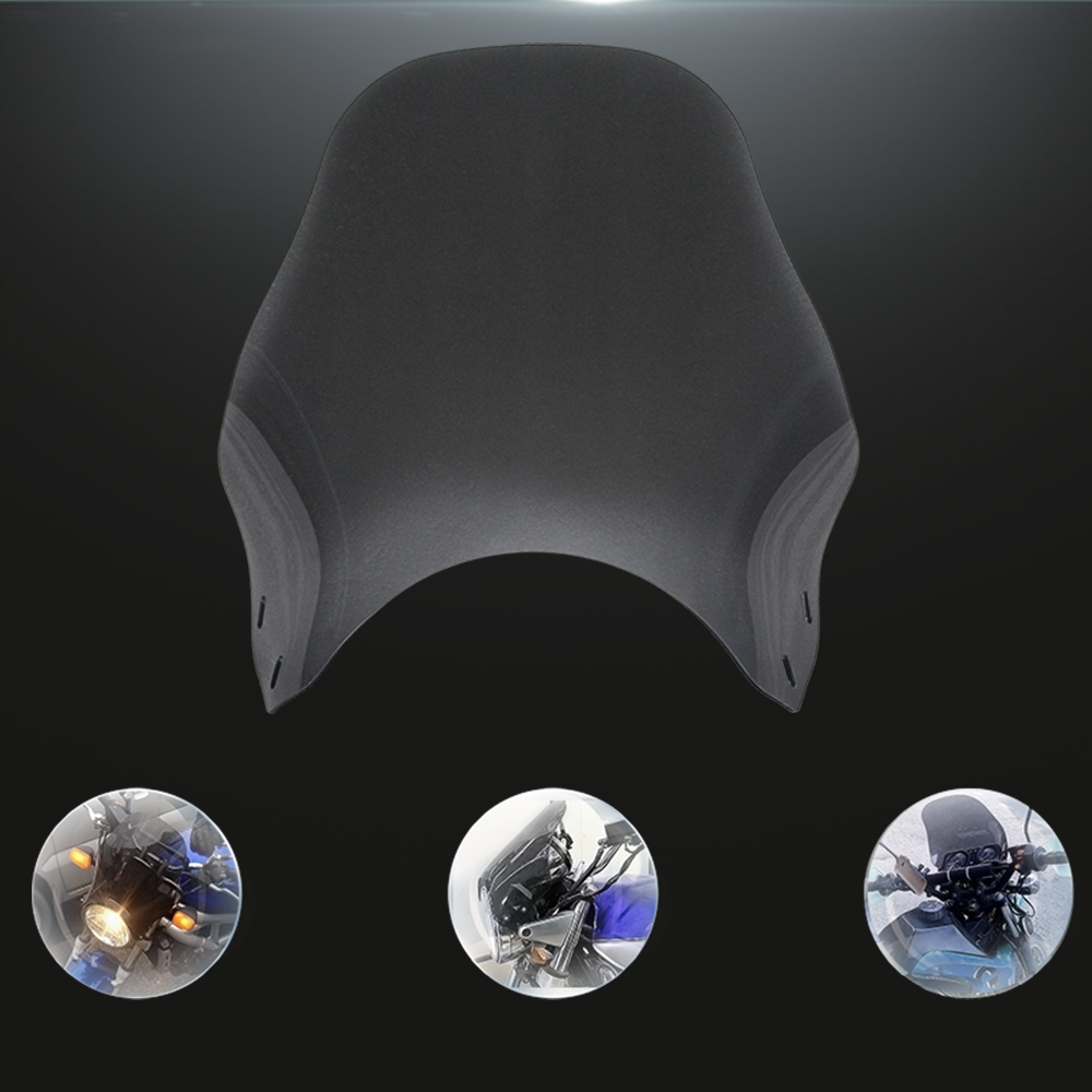 Image 5 - Motorcycle Windshield Round Headlight Street Bikes Windscreen Screen Glass For Honda cb400 cb750 Kawasaki Yamaha Suzuki sv650-in Windscreens & Wind Deflectors from Automobiles & Motorcycles