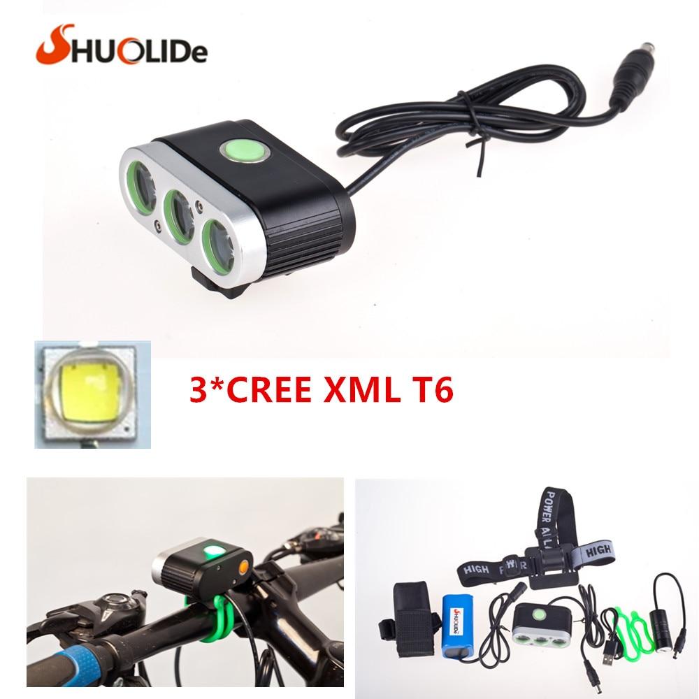 ФОТО 2017 New CREE 3T6 Bicycle Light headlights led headlamp  bike light Bicycle Light LED Flashlight torch