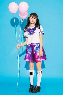 Anime! le Ciel Étoilé Uniformes Scolaires Japonais Sailor Costume Lolita Cosplay Costume top + cravate + jupe 2018 NOUVEAU Livraison Gratuite