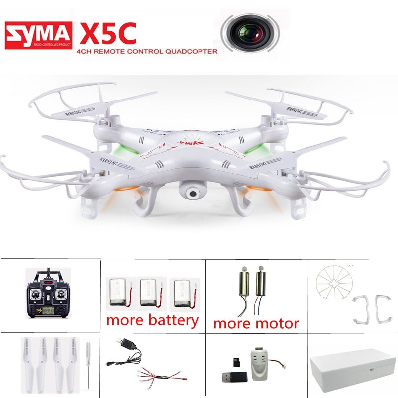 Original Syma x5c drone con cámara Dron headless modo RC helicóptero RC quadcopter Flying Cámara drone Control remoto drone Juguetes
