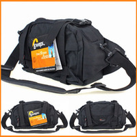 Promoção de Vendas NEW Genuine Lowepro Corredor Foto DSLR Saco Da Câmera Pacote de Cintura & Capa de Chuva