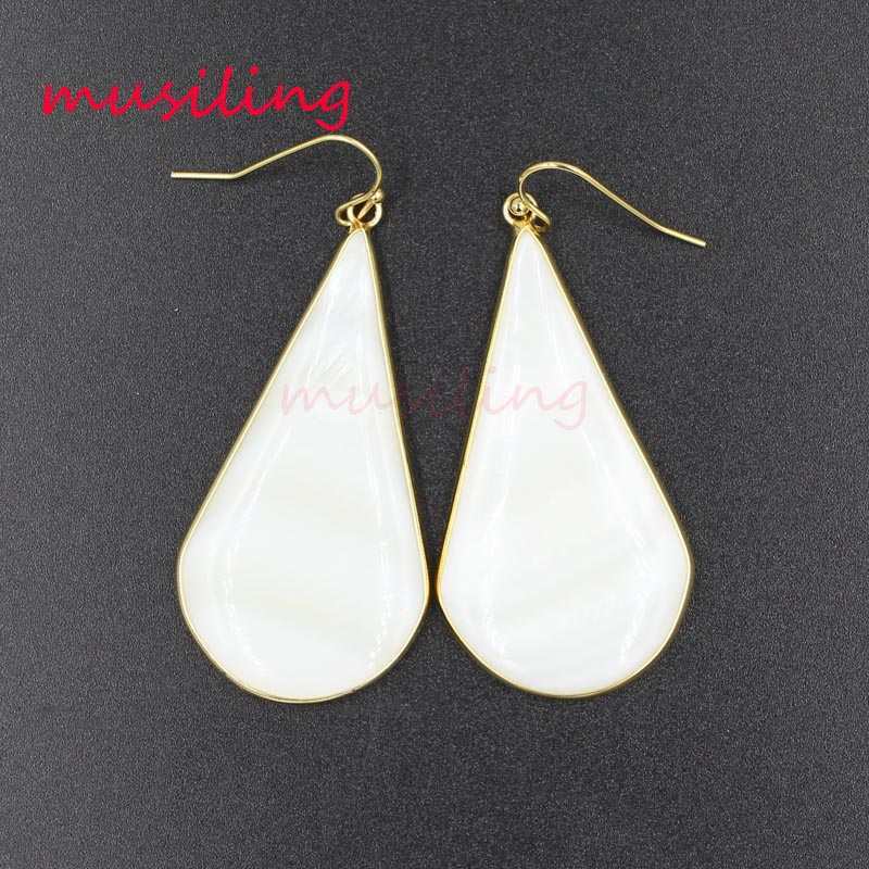 musiling Water Drop Dangle Earrings Natural Stone Cat 39 s Eye Charms Earring Fashion Jewelry for Women in Drop Earrings from Jewelry amp Accessories