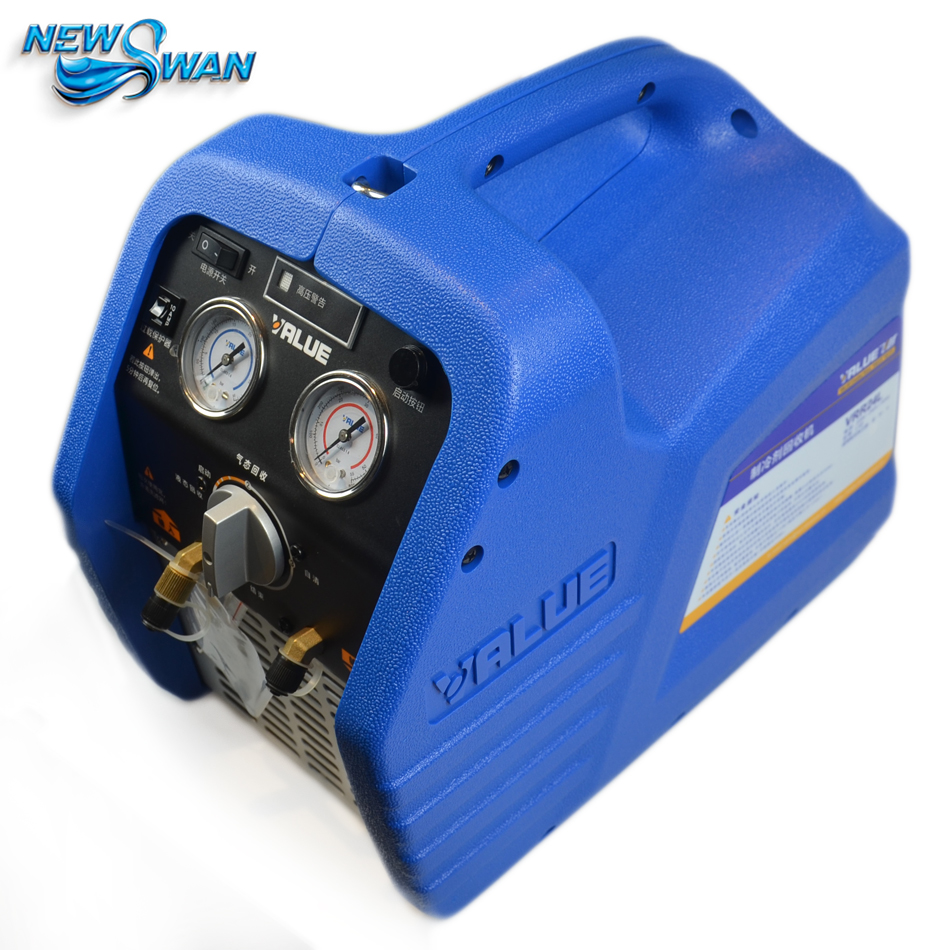 220V Gas Refrigerant Recycling Machine VRR24L Digital Manifold Refrigerant Recovery Unit Air Conditioning Repair Tool Gauge