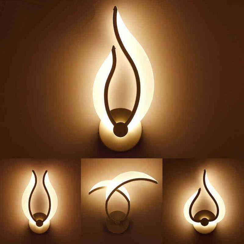 modern acrylic wall lamps fashional wall sconces lampe deco bed living room balcony bar aisle wall mounted decoration lighting modern led wall lamps living sitting room foyer bar aisle lamp acrylic bed room wall lights wall mounted sconce lighting