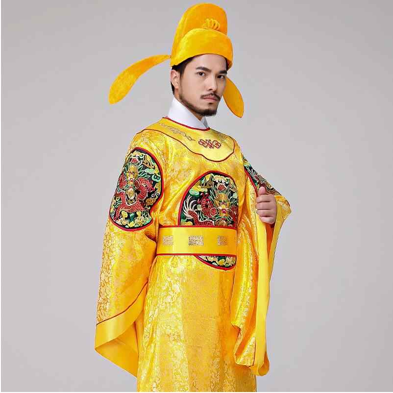 5c1265626 Chinese Emperor Costume Embroidered Dragon Robe drama Film TV Performance  dress Hanfu male