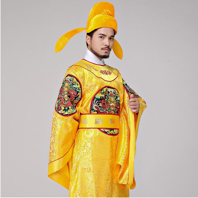 Costume empereur chinois brodé Dragon Robe drame Film TV Performance Robe Hanfu mâle
