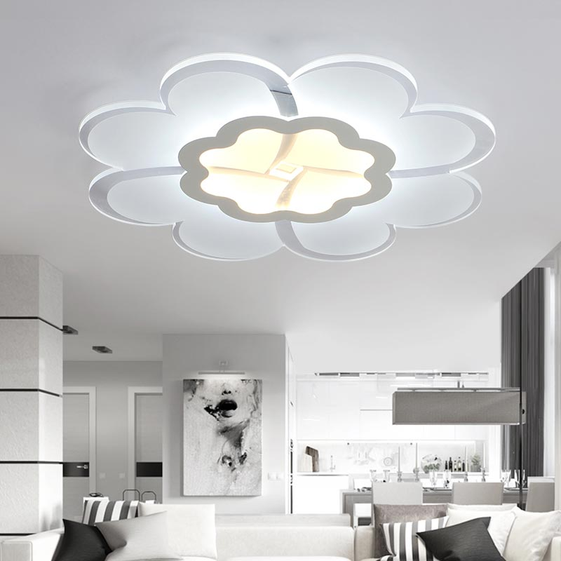 28W Led Lamps Modern Acrylic Ceiling Lights Fixtures Bedroom Living Room Kitchen Home Lighting White Iron lustre 110-22 modern minimalist ceiling lamps led lamps lighting acrylic stars children s room warm ultra thin bedroom lamp