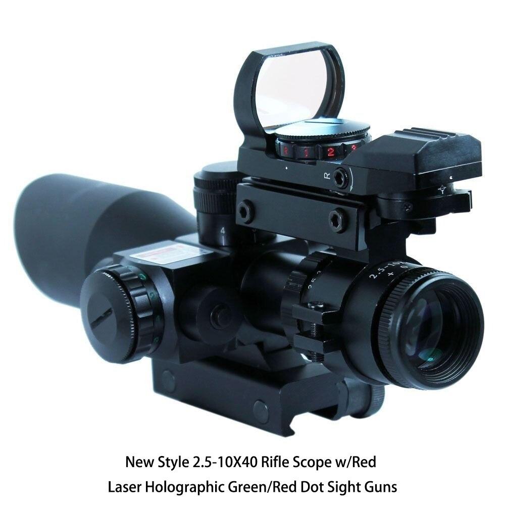 Новый стиль 2.5-10Х40 прицел Вт/Красный лазерный голографический зеленый/Красная точка зрение пушки