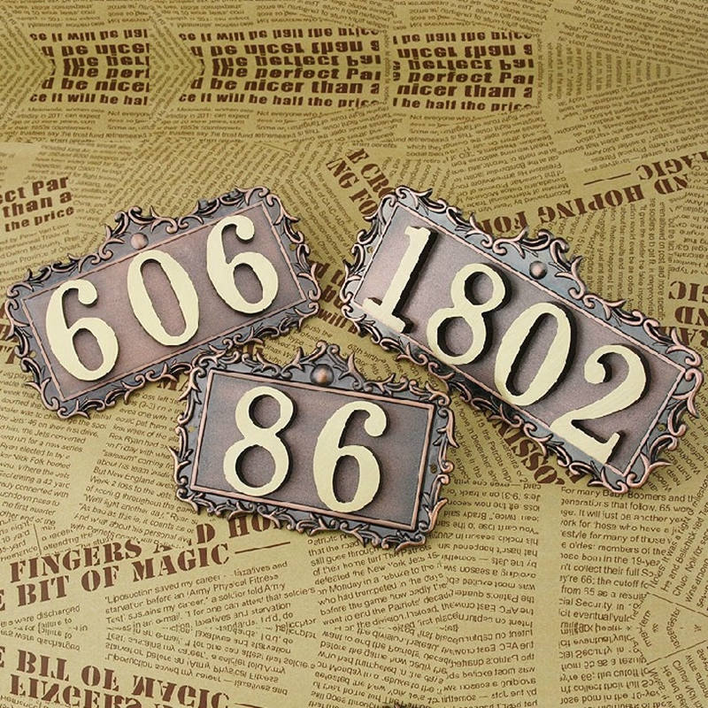 Numéro de la maison Européenne styleDoor Signe, Porte Nombre Sur Mesure Appartement Villa porte des plaques Lettres, Symboles Maison Hôtel