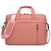 15 Inch big size For Nylon Computer Laptop Solid Notebook Tablet Bag Bags Case Messenger Shoulder unisex men women Durable Pink