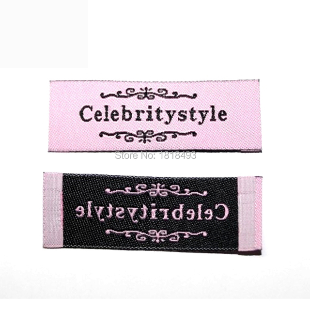 ba0898bb69173 US $46.5 7% OFF free shipping custom clothing woven labels/garment  embroidered labels/collar tags/brand/main labels/dress labels 1000 pcs a  lot-in ...