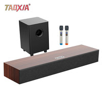 5.1 Echo Wall Sound Wood High Power Subwoofer Home Living Room K song System Set KTV Cinema Three in One 3D Stereo Surround