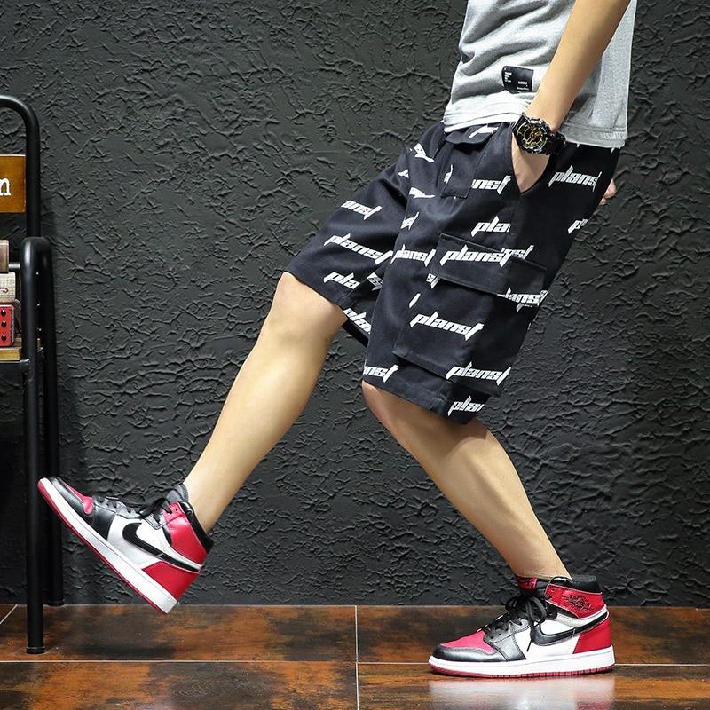 Mens Shorts Streetwear White Plus-Size Summer Cotton Fashion New 5xl Letter YASUGUOJI