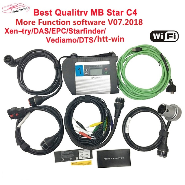 Big Sale 09.2018V MB Star C4 sd connect diagnostic scanner obd2 device full set mb star C4 multiplexer with HDD open more function