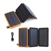 Solar Phone External Battery 10000mAh Power Bank 3.6W Solar Panels Powerbank for iPhone 5s SE 6 6s iPhone 7 8 X Samsung LG HTC.