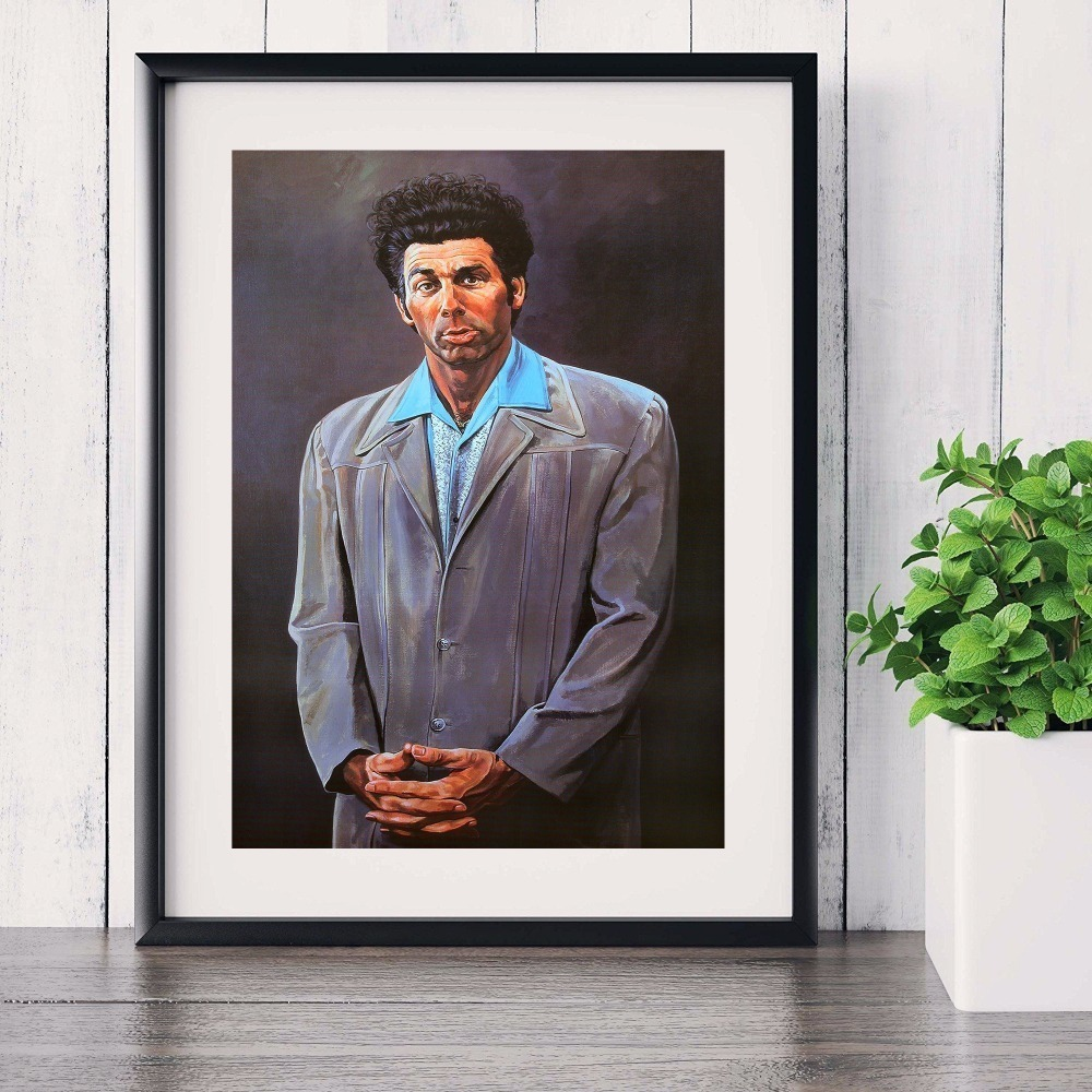 Seinfeld Kramer Portrait Artwork Wall Art Canvas Painting Poster For Home Decor Posters And Prints Unframed Decorative Pictures