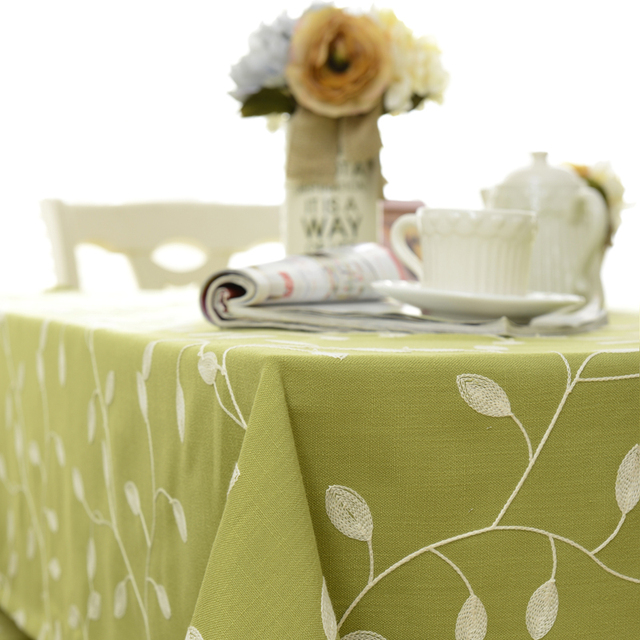 Spring Wish Theme Embroidery Table Cloth Pastoral Style Home Decor  Tablecloth Kitchen Dinning Table Cover Nappe